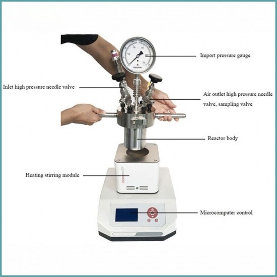 Micro Small 1000ML Stainless Steel Pressure Vessel Reactor